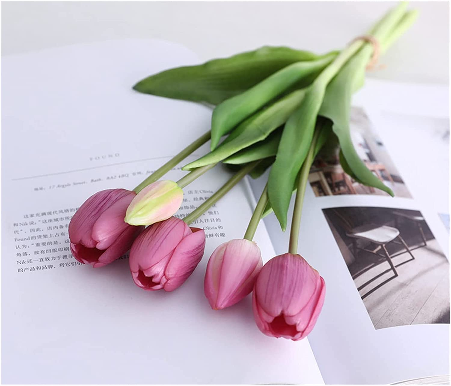 NEW before selling JSJJAES Artificial Flowers Real Touch Max 61% OFF Luxury Silicone Bouq Tulip