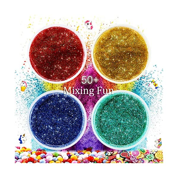 Slime Kit for Girls Boys,Slime for Kids Unicorn Sime Kit-12 Slime,10 Slime Glitters,4 Slime Charms,Slime Supplies for… 8