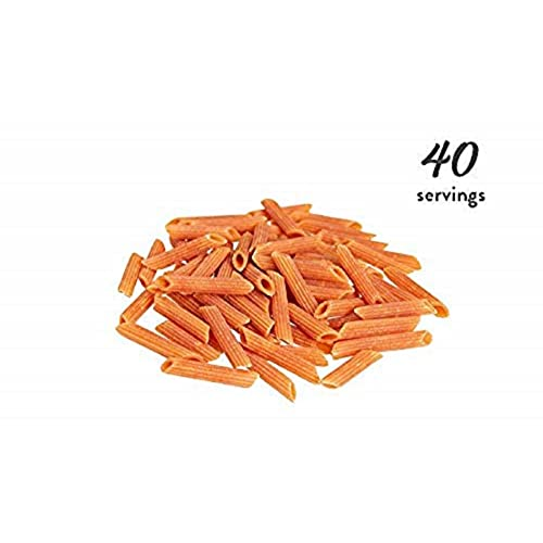 Bentilia Red Lentil Penne Pasta- Natural, Low Glycemic Index, High Protein Fiber, Non-GMO, Gluten Free Pastas, Healthy Snacks, 5 Pound (Pack of 1) Bulk Case