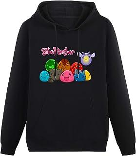 budebuai Mens LongSleeveHoodedSweatshirt Dark Slime Rancher Art Hoodies Long Sleeve Pullover Loose Hoody Sweatershirt w...