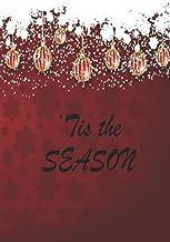 'Tis the Season, Red Christmas Balls, Lined Blank 6x9 Journal