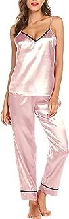 Silk Satin Pajamas Sleepwear Set Cami Soft PJ Set Sexy Nightwear S-XXL