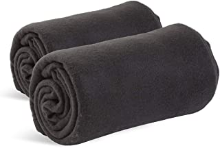 World's Best Cozy-Soft Microfleece Travel Blanket, 50 x 60 Inch, Black, Great for Travel or Lounging at Home (Pack of 2)
