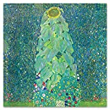 Giallobus - Cuadro - Gustav Klimt - El Girasol - Vidrio acrílico plexi - 50x50 - Listo para Colgar - Cuadros Modernos para el hogar