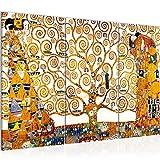 decoración de la mesa Wall Gustav Klimt Árbol de la Vida - 120 x 80 cm Vista de impresión en lienzo Salón Apartamento - listo para colgar - 700031a