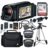 Canon VIXIA HF R800 Camcorder with Sandisk 32 GB SD Memory Card + 2.2x Telephoto Lens + 0....