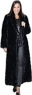 Women's Full Length Mink Fur Coat with Shawl Collar