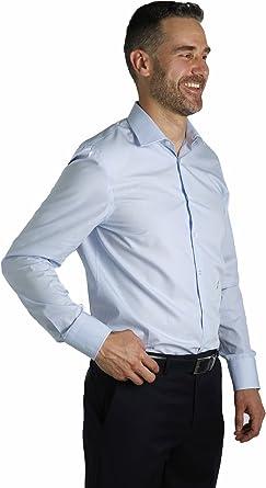 Enrique Pellejero Camisa de Vestir Celeste (40): Amazon.es ...