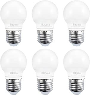 B2ocled Led Light Bulbs, 3W(25W Equivalent), Soft White 2700K, A15 Golf Ball Shape, E26/E27 Based Standard Replacement, 240 Lumens, CRI 90+, 6-Pack