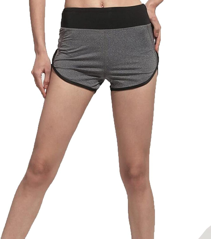 Wwgy Women's running shorts high waisted shorts Yoga fitness gymnastics