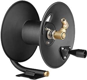 High Pressure Hose Reel 4000 PSI 50ft Capacity Pressure Washer Hose Reel Liquid/air use(Hose not Included)