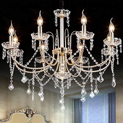Crystal Chandeliers Lighting Fixture Ceiling Lights...