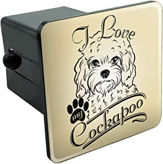 Graphics and More I Love My Cockapoo Tow Trailer Hitch Cover Plug Insert