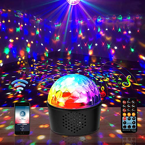 Disco Party Lights Bluetooth Speaker 3 in 1 ,9 Colors Party Lights Sound Activated Strobe Light Night Lights for Bedroom KTV Birthday Gift for women/Kid/men (Built in Battery)