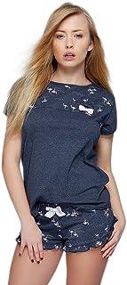 13a1f22d0f Sensis Pigiama/abbigliamento da casa trendy in cotone composto da maglietta  e pantaloncini, made