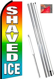 SHAVED ICE (Multi-color) Flutter Feather Banner Flag Kit (Flag, Pole, & Ground Mt)