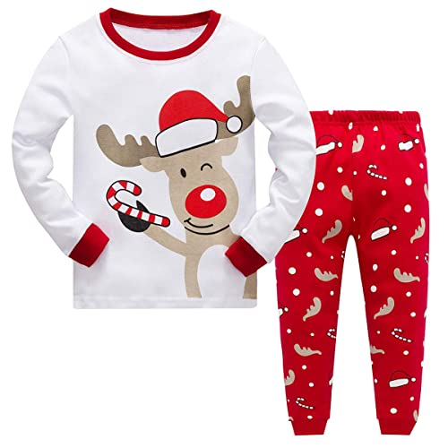Baby Boys Girls Christmas Pyjamas Sets Toddler Kids Childrens Reindeer  Costume Long Sleeve Pjs Nightwear Sleepwear d901a4f21