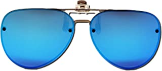AirOne Polarized Cat Eye Clip On Sunglasses Over Prescription Glasses for Men Women UV Protection