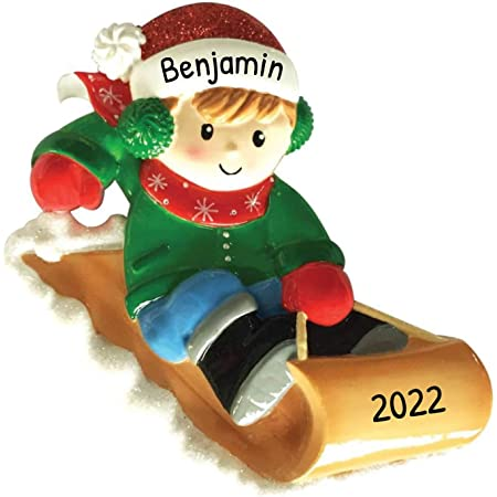 Free Customization Happy Kid Lying Down Fresh Snow Child-Hood Game Milestone Photo Memory Grand-Son Winter Tradition Year Personalized Snow Angel Boy Christmas Tree Ornament 2020