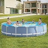 Easy Set Piscina, Piscina, 120IN × 30in Frame de la piscina sobre la piscina en el suelo Piscina de salón de tamaño completo para niños, niños, adultos, set fácil para patio trasero, fiesta de agua de