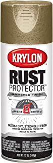 Krylon K06931800 Rust Protector Hammered Paint, Gold Hammer 12 Ounce (Pack of 1)