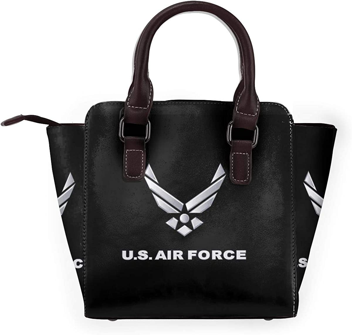 Classique Andrew Yang Pour le Président 2020 Femmes de la Mode en Cuir Véritable Rivet Sac à Bandoulière Filles Voyage École Sac à Main Logo Us Air Force.