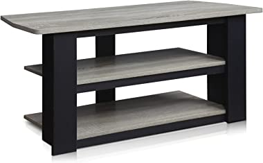 FURINNO Parsons 42-in TV Entertainment Center, French Oak Grey