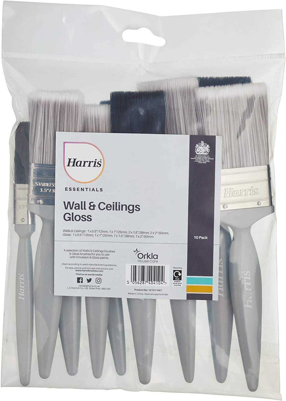 Harris Pack de 10 Plats Artiste Hobby Modèle Peinture Brush Set