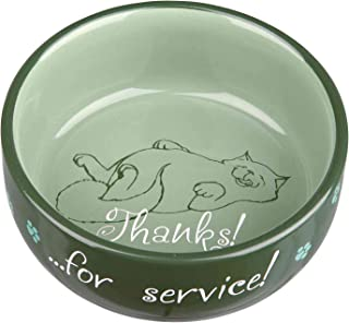Trixie Cat bowl Thanks for Service, ceramic