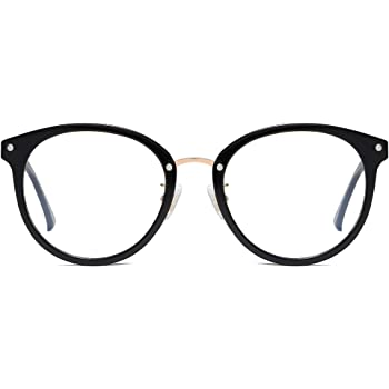 SOJOS Retro Round Blue Light Blocking Glasses TR90 Computer Eyeglasses Ashley SJ9001
