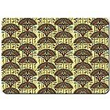 Alfombras Absorbente Antideslizante Adornos Tradicionales Folklóricos Coloridos Arqueología Historia Tema Tribal Ultra Suave Alfombrilla De Baño Corredor-75x45cm