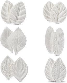 Flower Leaf Mold, Beasea 6 Pair Silicone Leaves Petel Veiner Mold Sugarcraft Flower, Shells Fondant Molds Cake Decorating ...
