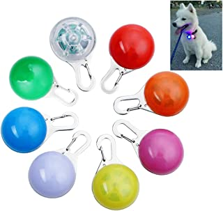 OWUDE Clip-On Dog Cat Collar Light, Waterproof Safety Night Walking LED Lights for Pet, 8 Pack Collar Charms Lights, Batte...