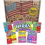 Heavenly Sweets Dulces Nerds Cesta Caramelos - Selection Americana, Rainbow Nerds, Nerds Mini Boxes - Regalo Cumpleaños, Navidad, Día de San Valentín, Pascua - Pack de 25x18x2,5cm