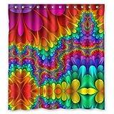 Duschvorhang, Regenbogenfarben, 100 prozent Polyester, 167,6 x 182,9 cm (B x H)