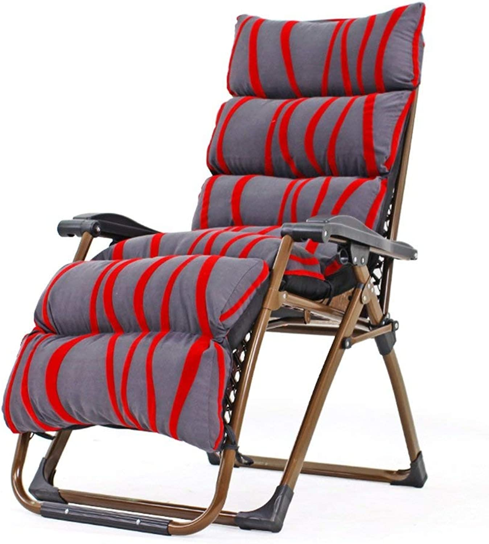 Hxx Schaukelstuhl übergroer Schwerelosigkeits-Liegestuhl mit abnehmbarem, dickem Kissen, Verstellbarer und Faltbarer Liegestuhl mit Liegestuhl, Stütze 200 kg,B