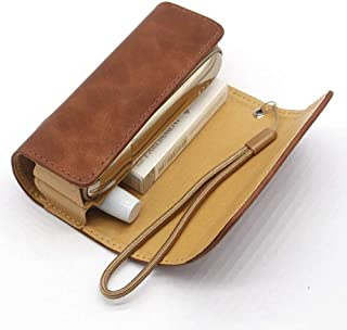 Gooder Carry Case Cover for IQOS 3.0 Protective Case Cover Wallet Holder for IQOS 3 with Lanyard (Brown)