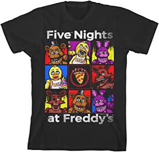 Five Nights at Freddy's Character Squares Boys Youth T-Shirt Licensed FNAF Black