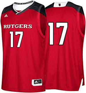 adidas Rutgers Scarlet Knights NCAA 17 Red Replica Basketball Jersey