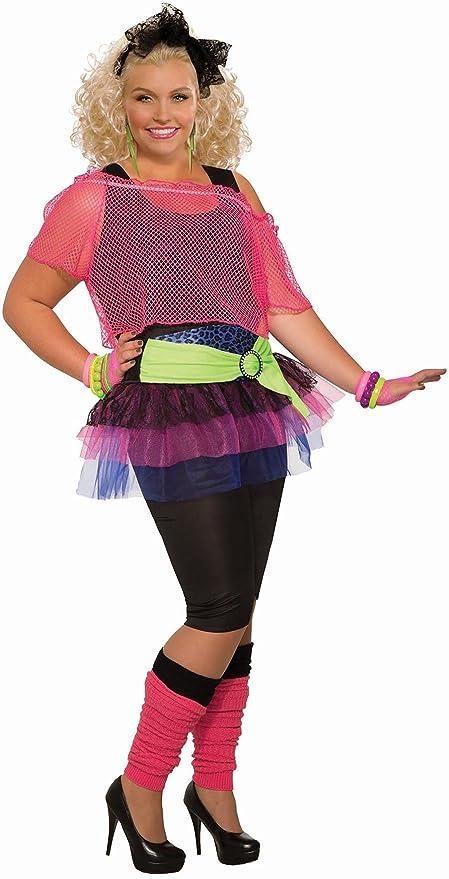 80s Dresses | Casual to Party Dresses Forum Novelties Plus Size Womens 80s Girl Costume  AT vintagedancer.com
