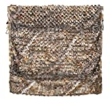 Auscamotek Camo Netting Camouflage Net Deer Blinds Material for Ground Portable Blind Hunting Chair Umbrella Treestands-Brown 5x6.5 Feet
