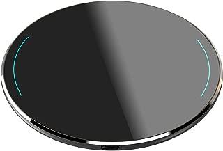 TOZO W1 Wireless Charger Ultra Thin Aviation Aluminum CNC Unibody Fast Charging Pad Black (NO AC Adapter)