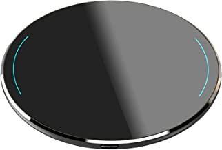 TOZO W1 Wireless Charger Ultra Thin Aviation Aluminum CNC Unibody Fast Charging Pad Black..