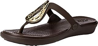 a8035b981218 FREE Shipping by Amazon. Crocs Women s Sanrah Liquid Metallic Flip Flop