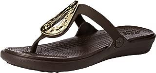 Crocs Women's Sanrah Liquid Metallic Flip