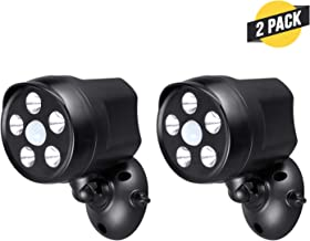 Outdoor Battery Powered Spotlight with Motion Sensor - Give the Best Vision to your Arlo Pro, Arlo Pro2, Arlo Ultra, Ring Stick Up, Ring Spotlight, Nest Outdoor, Blink XT2, and Wyze Cam (Black, 2Pack)