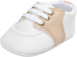 Zapatillas de bebé niños niñas Zapatos Primeros Pasos con Cordones para bebés