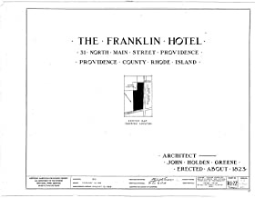 Historic Pictoric Structural Drawing HABS RI,4-PROV,27- (Sheet 0 of 7) - Franklin House Hotel, 32 Market Square, Providence, Providence County, RI 55in x 44in