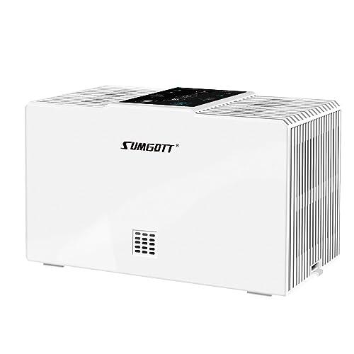 SUMGOTT Purificador de Aire, Filtro HEPA con 3 Etapas de Filtración, Elimina el 99,99% Alergenos, Polvo, Polen y Mascotas Dander, Purificador de Aire para Casa y Oficina