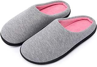Kuzima Men's and Women's Memory Foam Slippers Indoor Outdoor Anti-Slip House Shoes Two-Tone Cozy Plush Fleece Lined